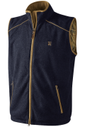 Harkila sandhem fleece waistcoat navy blue